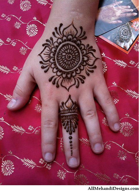 Mehndi Patterns Kids : Cute mehndi designs for kids beautiful henna pattern