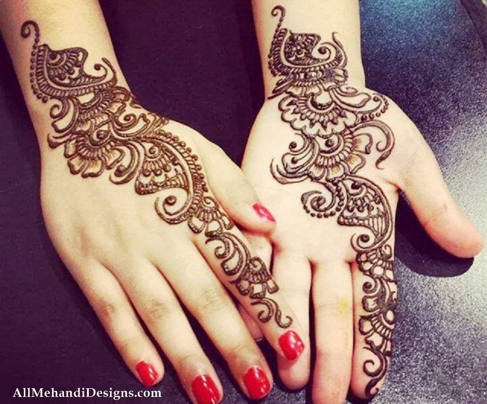 Mehndi Designs For Palm : Simple and easy mehendi designs for palm