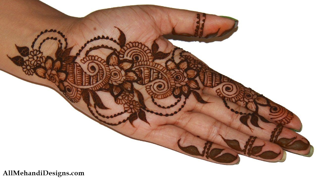 Mehndi Flower Designs For Hands : 1000 easy mehndi design simple mehandi desings images