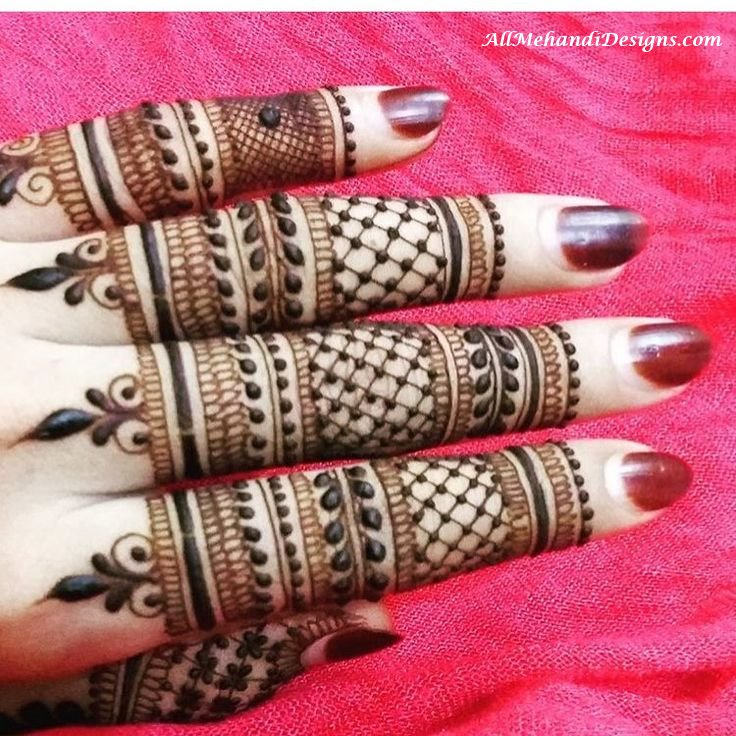 Back Hand Fingers Mehndi Design : Easy finger mehndi designs henna ideas