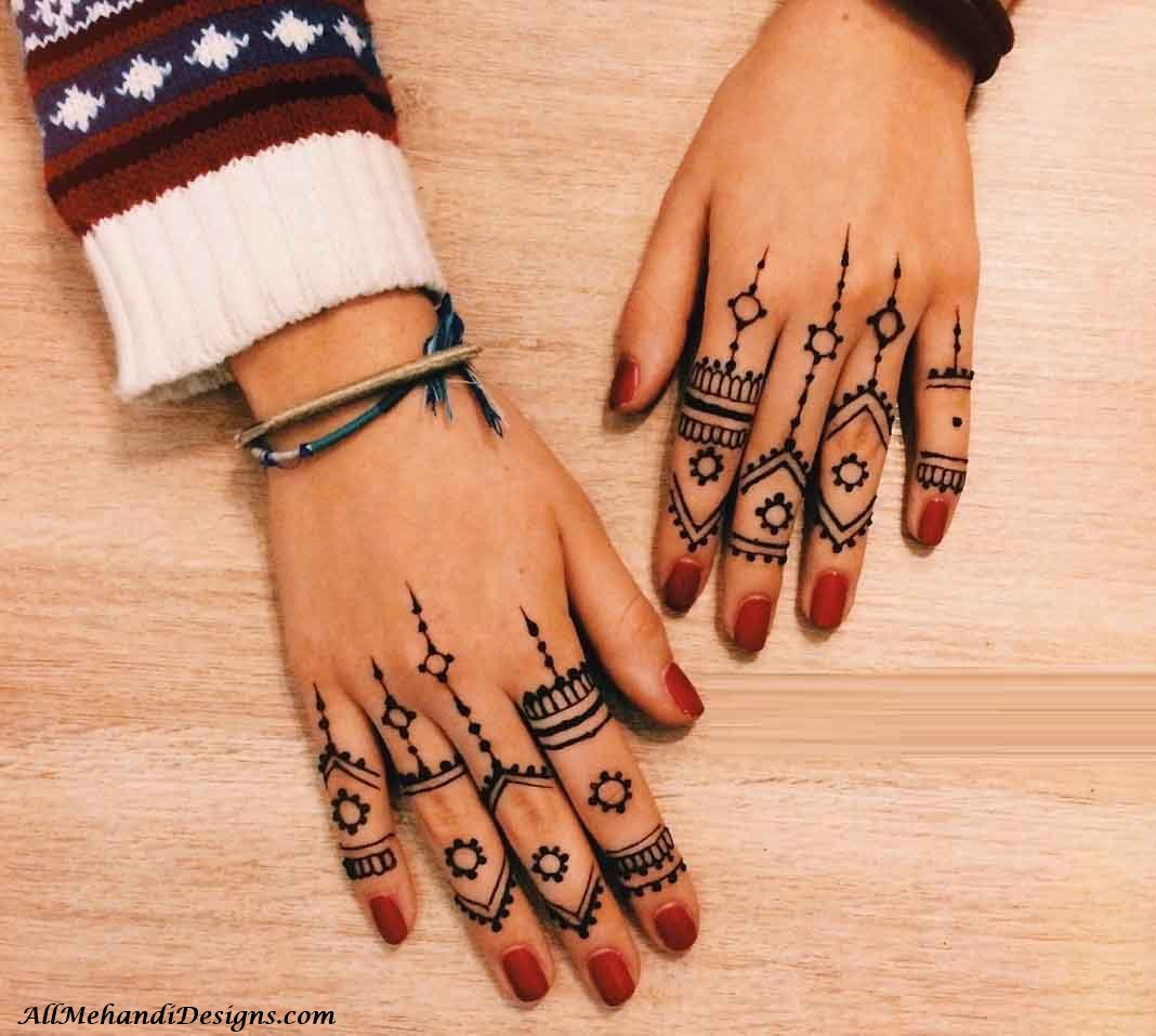 Mehndi Design With Fingers : Easy finger mehndi designs henna ideas