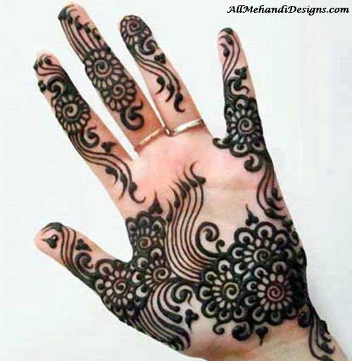Mehndi Design For Fingers Front Side : Mehndi design for fingers front side with innovative pink