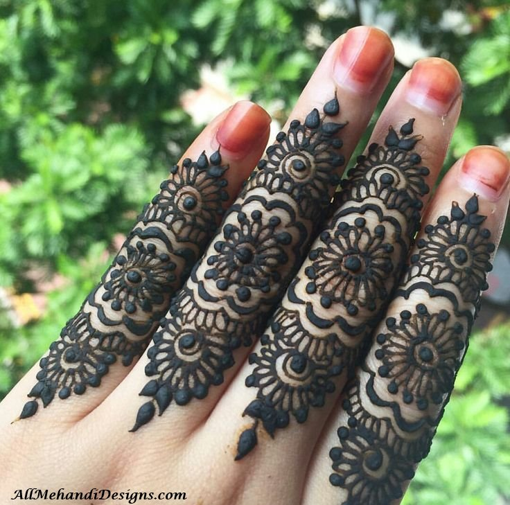Mehndi Design For Fingers Front Side : Easy finger mehndi designs henna ideas