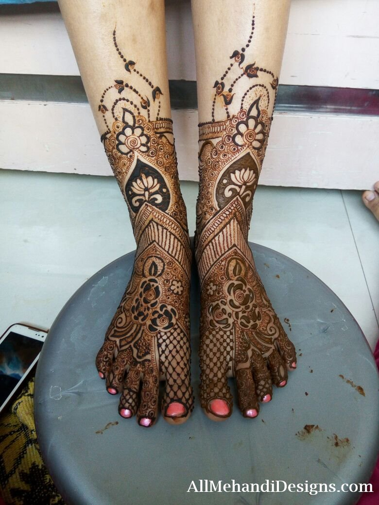 Bridal Mehndi Ki Design : Easy foot mehndi designs simple feet henna patterns