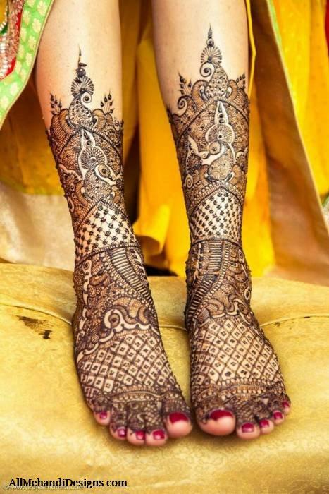 Mehndi Design For Right Leg : Leg mehndi designs simple easy henna patterns