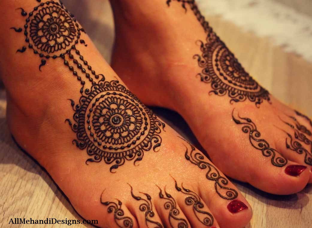 Mehndi Legs Images : 1000 leg mehndi designs simple & easy henna patterns