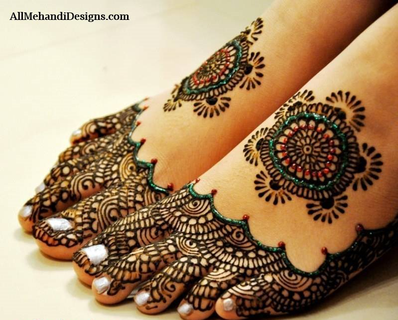 Mehndi Design For Bridal Collection : Leg mehndi designs simple easy henna patterns
