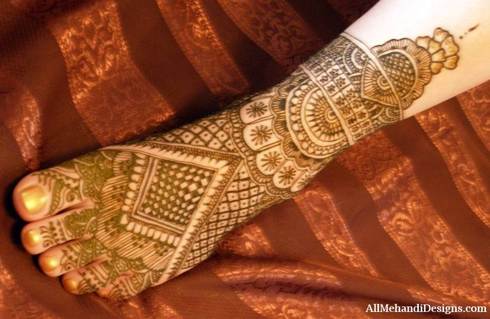 Mehndi Patterns For Legs : Bridal mehndi designs design for your wedding day