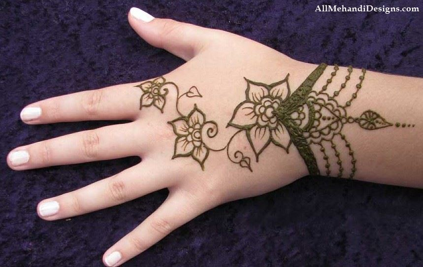1000+ Cute Mehndi (Henna) Designs for Kids {for Small Baby}