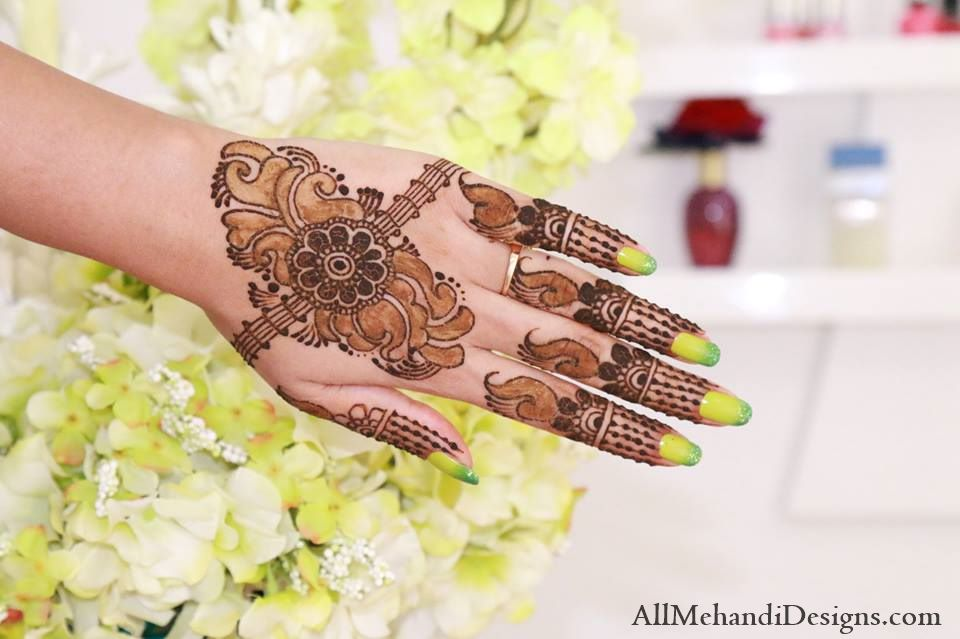 Simple and Easy Eid Mehndi Designs, arabic henna mehendi pattern ideas