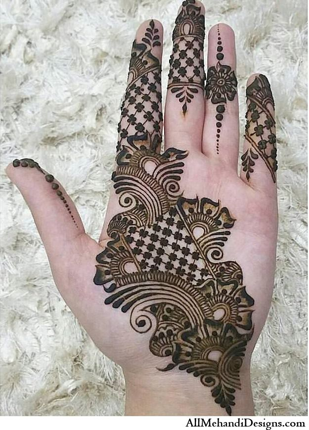 Front Hand Beautiful Eid Mehndi Designs with Images