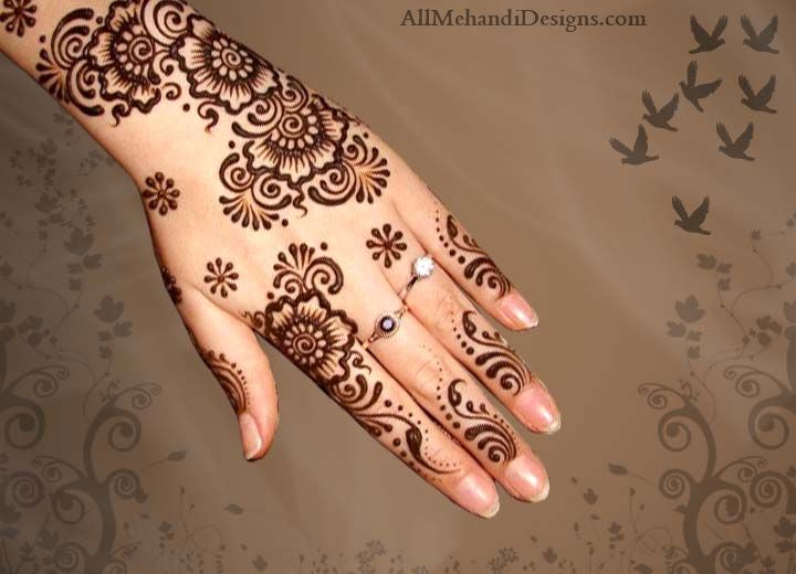 Floral Simple Eid Henna Mehndi Designs