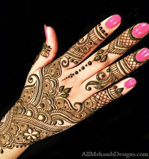 Back Hand Eid Mehndi Designs