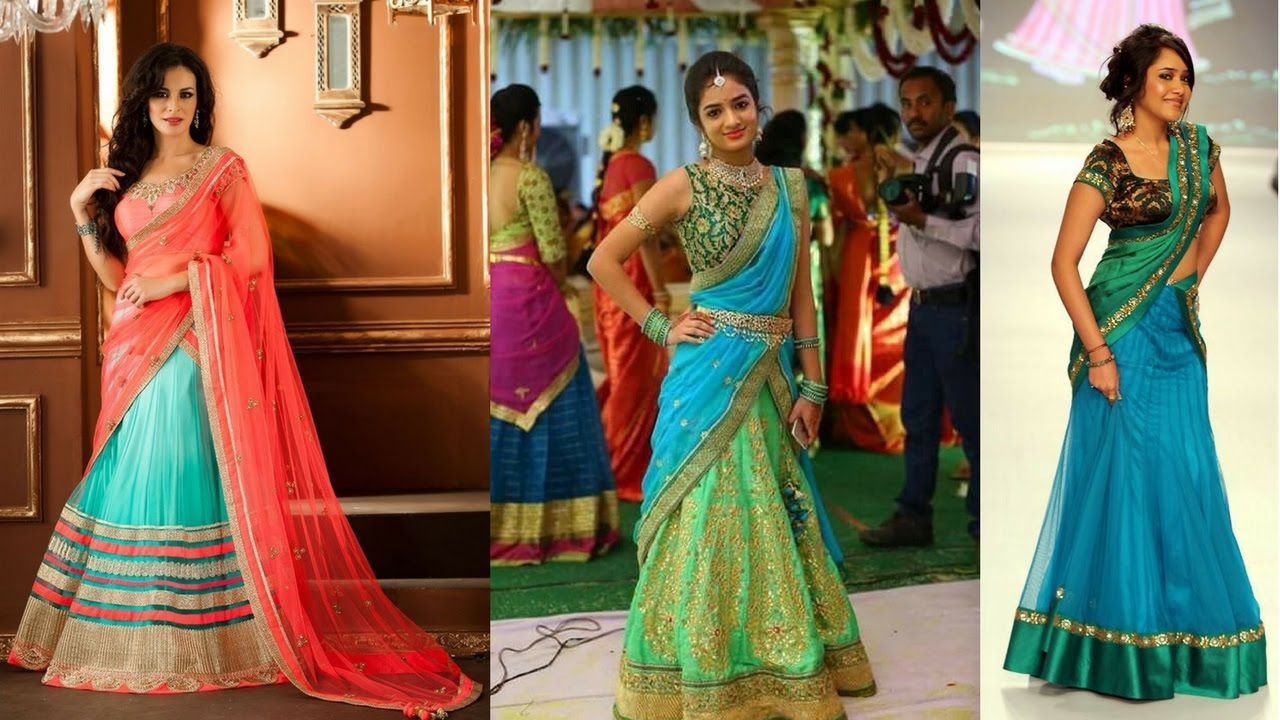 Half and Half Saree Designs to Create an Impressive Fashion Statement  Here is a Detailed Guide on Gorgeous Half and Half Saree Designs to Create an Impressive Fashion Statement. you can even try new looks with statement.