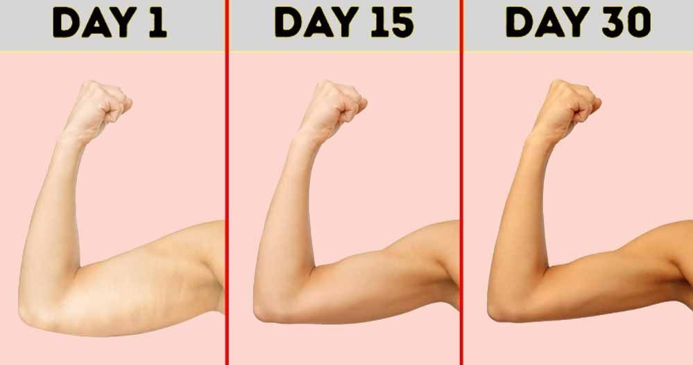 7 Workouts for 30 Days Arm Challenge